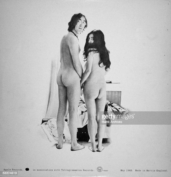 View of the back cover of the record album 'Two Virgins' by British musician John Lennon and Japaneseborn musician and artist Yoko Ono 1968 The two...