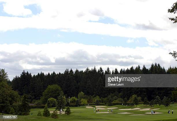 A view of the back nine during the first round of the JELDWEN Tradition at The Reserve Vineyards Golf Club in Aloha Oregon on Thursday August 24 2006