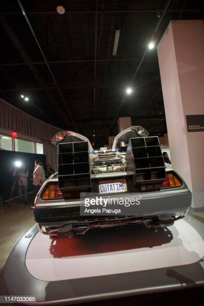 A view of the Back to the Future Time Machine during the opening of the new exhibit Hollywood Dream Machines Vehicles Of Science Fiction And Fantasy...