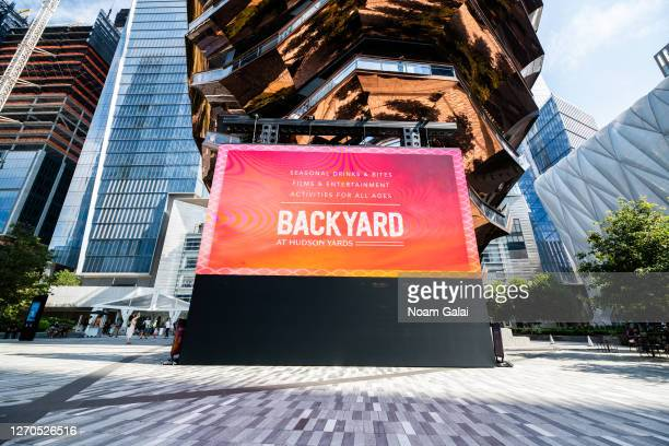 View of the Backyard at the Hudson Yards as the city continues Phase 4 of re-opening following restrictions imposed to slow the spread of coronavirus...