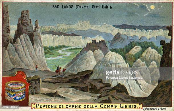 View of the Bad Lands located in the state of Dakota this region composed by miocene rocks with its fantastic shapes is a barren zone but very...