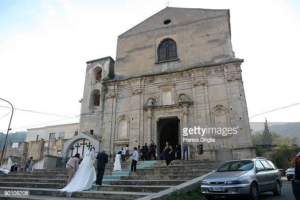 A view of the Badolato cathedral on August 24 2009 in Badolato Reggio Calabria Italy Situated on a hill a few kilometres from the Jonic Coast the...