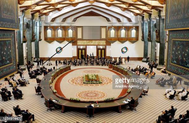View of the Baghdad Conference for Cooperation & Partnership in Baghdad, Iraq on August 28, 2021.
