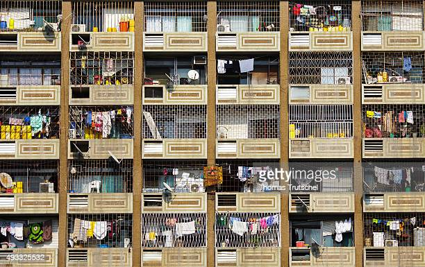 View of the balconies of a residential house in Beira on September 29 2015 in Beira Mozambik