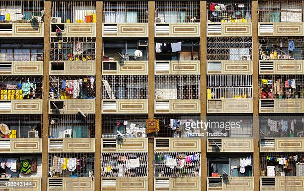 View of the balconies of a residential house in Beira on September 29 2015 in Beira Mozambique