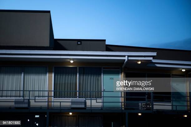 A view of the balcony where Martin Luther King was assassinated at the Lorraine Motel is seen on the 50th anniversary of the shooting on April 4 2018...
