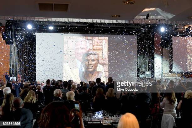 A view of the ballroom at the 32nd Annual Great Sports Legends Dinner To Benefit The Miami Project/Buoniconti Fund To Cure Paralysis at New York...