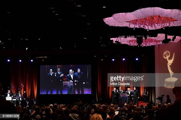 A view of the ballroom at the 59th annual New York Emmy Awards at Marriott Marquis Times Square on March 19 2016 in New York City