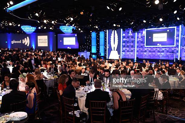 View of the ballroom during the 27th Annual GLAAD Media Awards at the Beverly Hilton Hotel on April 2, 2016 in Beverly Hills, California.