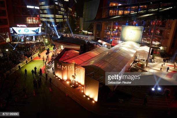 A view of the Bambi venue during the Kryolan Beauty Lounge before the Bambi Awards 2017 on November 16 2017 in Berlin Germany