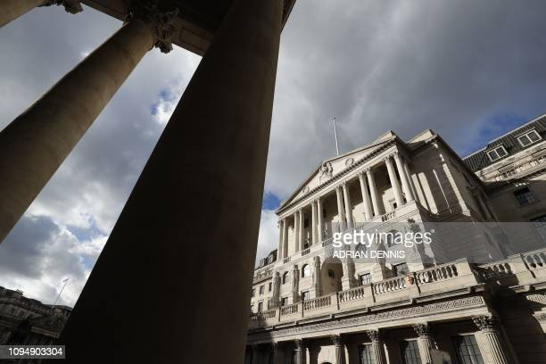 A view of the Bank of England building in central London on February 7 2019 Britain's economy is not yet prepared for a disorderly nodeal departure...