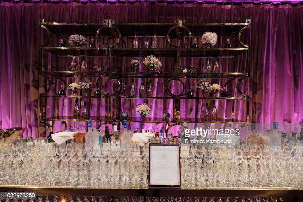 View of the bar during Rihanna's 4th Annual Diamond Ball benefitting The Clara Lionel Foundation at Cipriani Wall Street on September 13, 2018 in New...