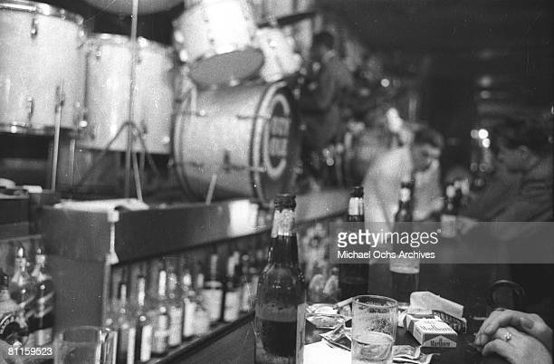 A view of the bar in a Jazz nightclub circa 1955 in New York City New York