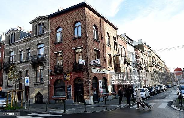 A view of the bar Les Beguines owned by Brahim Abdeslam one of the suicide bombers implicated in the Paris attacks on November 17 2015 in Brussels'...