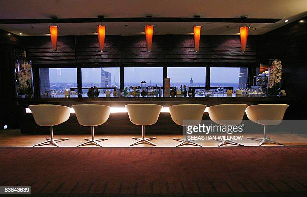 View of the bar of the restaurant 'Falco' of German chef Peter Maria Schnurr on November 26 2008 in Leipzig eastern Germany Schnurr who is from...