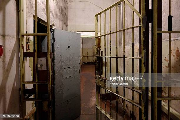View of the basement prison cells at the former KGB, or 'Cheka' headquarters known by locals as the Corner House in Riga capital of Republic of Latvia