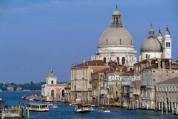 View of the basilica of Santa Maria della Salute from the Academia bridge Venice Veneto Italy 17th century