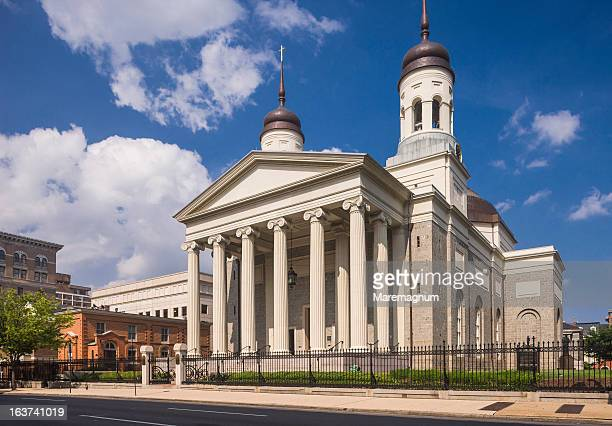 view of the basilica of the assumption - basilica stock pictures, royalty-free photos & images