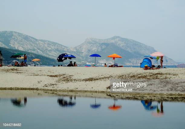 View of the bay Cala Luna beach in National Park of the Orosei and Gennargentu Ogliastra Sardinia Italy
