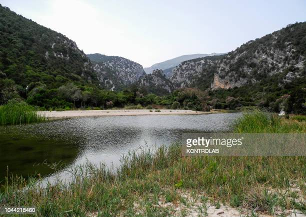 View of the bay Cala Luna in National Park of the Orosei and Gennargentu Ogliastra Sardinia Italy