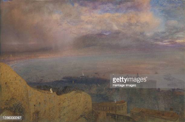 View of the Bay of Naples with Vesuvius Smoking in the Distance 1871 Artist Alfred William Hunt