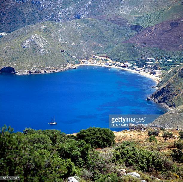 View of the bay of Porto Kagio Mani peninsula Peloponnese Greece
