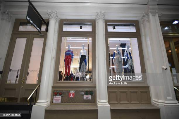 A view of the BCBGMAXAZRIA SoHo store opening with Kate Young Bernd Kroeber and InStyle on September 13 2018 in New York City