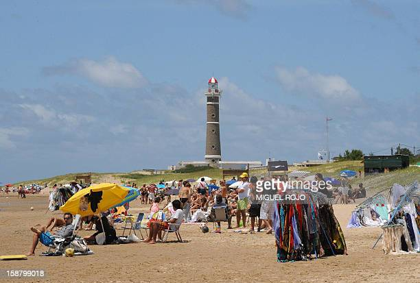 View of the beach and lighthouse of Jose Ignacio Maldonado Uruguay on December 27 2012 AFP PHOTO/Miguel ROJO