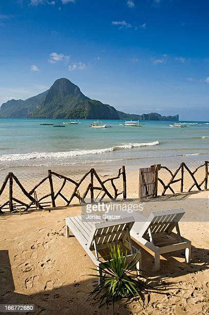 EL NIDO PALAWAN PHILIPPINES A view of the beach at El Nido located at the northwestern tip of the province of Palawan in the Philippines El Nido is...
