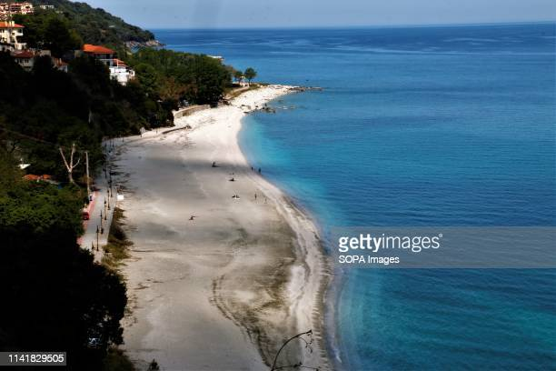 A view of the beach Papa Nero seen in Pelion The Greek region of Pelion is named after the Mountain and is full of villages showcasing the local...