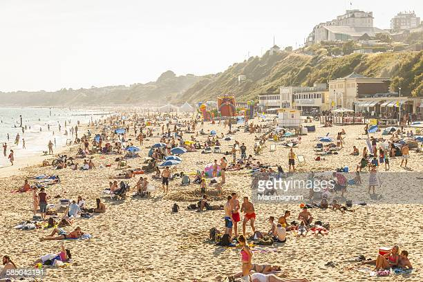 view of the beach - bournemouth england stock pictures, royalty-free photos & images