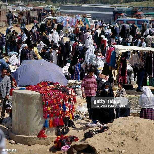 View of the Bedouin market of Beersheba Israel
