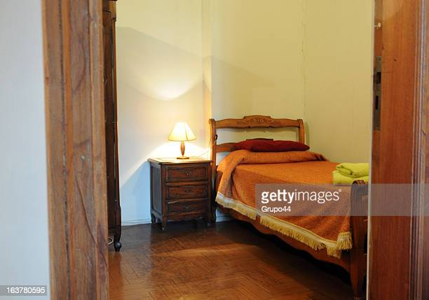 View of the bedroom where Pope Francis lived while studying for priest at Colegio maximo San Miguel on March 15 2013 in San Miguel Buenos Aires...