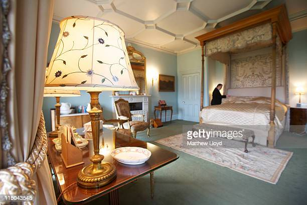 View of the bedrooms in Highclere Castle on March 15, 2011 in Newbury, England. Highclere Castle has been the ancestral home of the Carnarvon family...