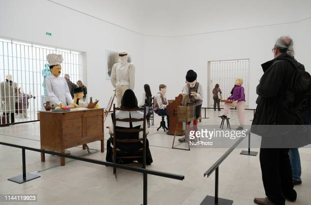 View of the Belgium pavilion, represented by the artist Jos de Gruyter & Harald Thys, visible at Giardini during the 58th International Art...