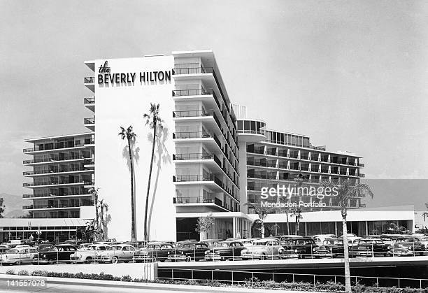 View of the Beverly Hilton Hotel Beverly Hills 1950s
