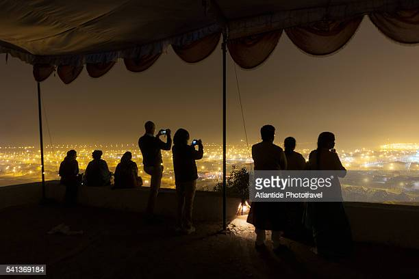 view of the big camp along the ganges river - prayagraj stock pictures, royalty-free photos & images