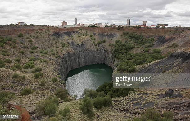 A view of 'The Big Hole' where diamonds were mined between 1871 and 1914 on November 9 2009 in Kimberley South Africa