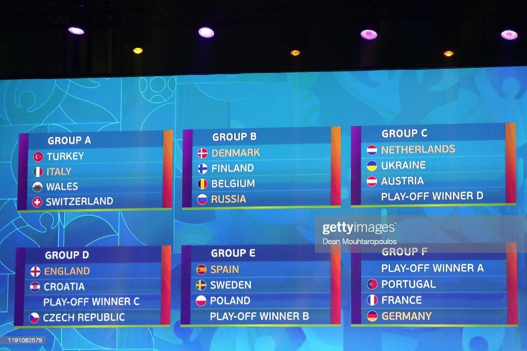 UEFA Euro 2020 Final Draw Ceremony : Photo d'actualité