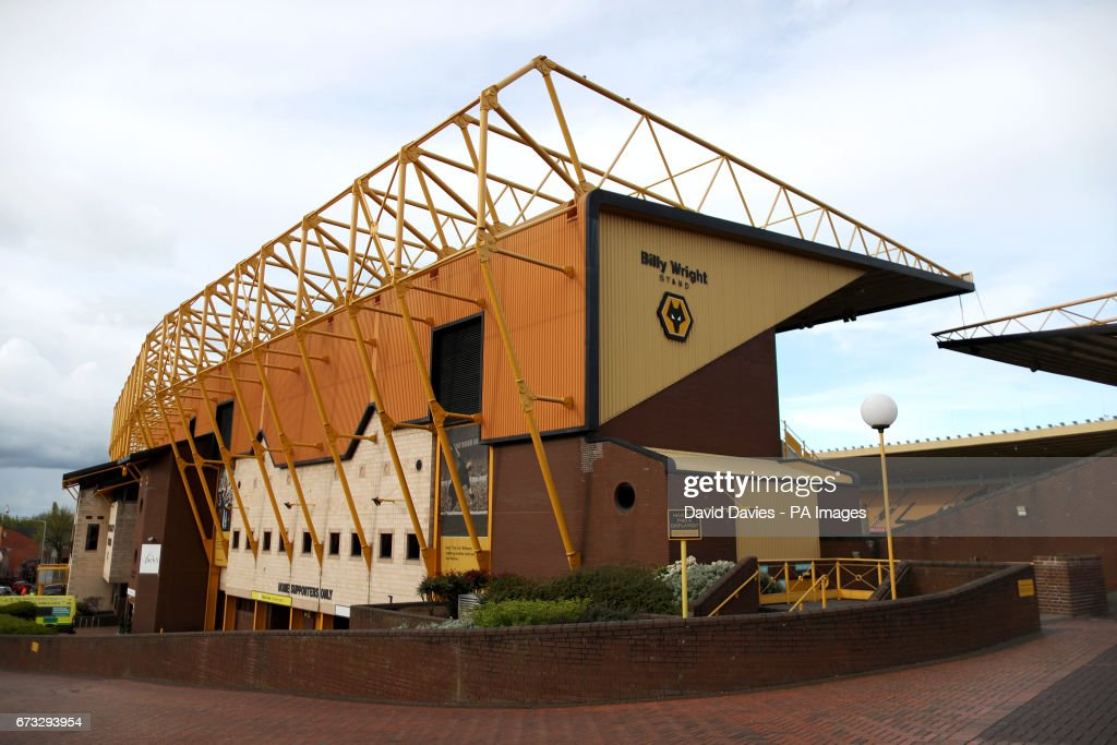 A view of the Billy Wright Stand during the Sky Bet Championship match at Molineux Stadium, Wolverhampton