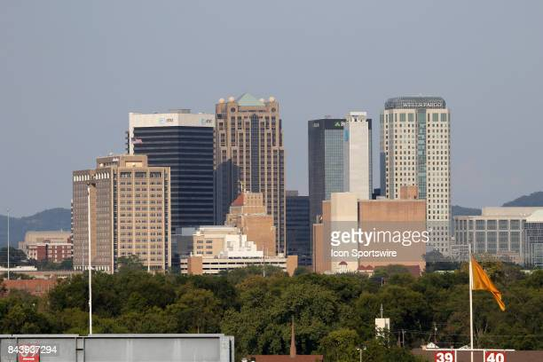 A view of the Birmingham skyline from Legion Field during the game between the UAB Blazers and the Alabama AM Bulldogs UAB defeated Alabama AM by the...