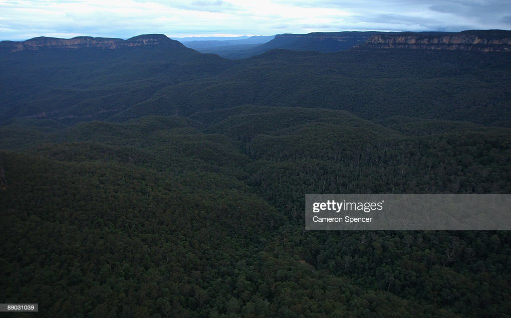 A view of the Blue Mountains from Echo Point on July 15, 2009 in Katoomba, Australia. Missing British backpacker Jamie Neale was found earlier today after surviving 12 days lost in the Blue Mountains near Katoomba suffering from only dehydration and exposure.