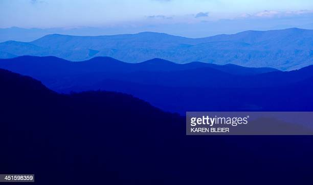 A view of the Blue Ridge mountains seen from Skyline Drive early November 23 2013 in Shenandoah National Park in Virginia AFP PHOTO / Karen BLEIER