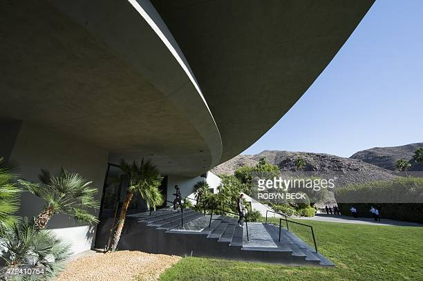 A view of the Bob and Dolores Hope Estate in Palm Springs California where the Louis Vuitton 2016 cruise collection show was held May 6 2015 The...