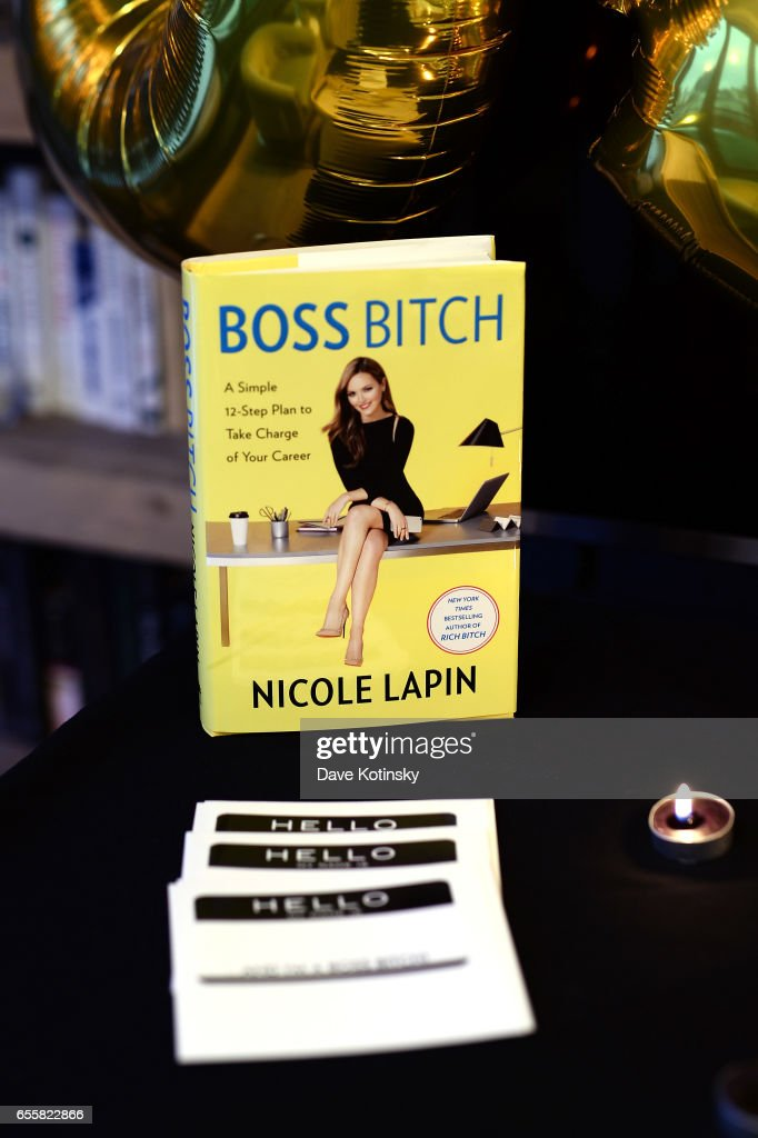A view of the book 'BOSS BITCH' at a private party to celebrate the release of Nicole Lapin's second book 'BOSS BITCH' at a private residence on March 20, 2017 in New York City.