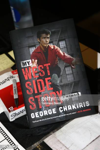 """View of the book during the Golden Globe and Academy Award winner George Chakiris signs and discusses his new book """"My West Side Story: A Memoir"""" at..."""