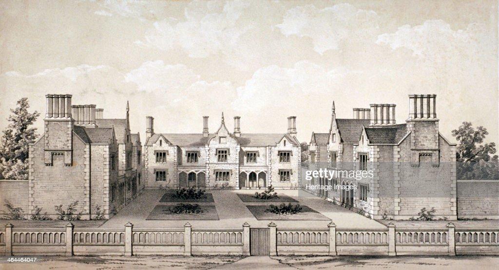 View of the Bookbinders' Provident Asylum, Balls Pond Road, Islington, London, c1845. Artist: WL Walton : News Photo