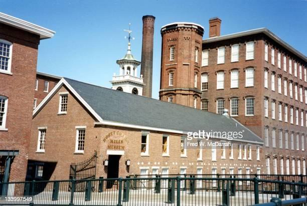 View of the Boott Cotton Mills Museum on Kirck Street Lowell Massachusettes June 15 1995