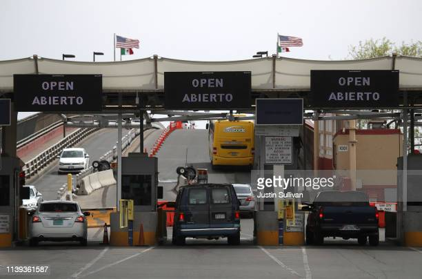 View of the border crossing into Mexico on March 30, 2019 in El Paso, Texas. U.S. President Donald Trump has threatened to close the United States...