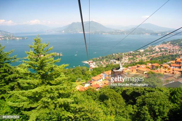 view of the borromean islands, isola bella - lake maggiore, italy, stresa - stresa stock pictures, royalty-free photos & images